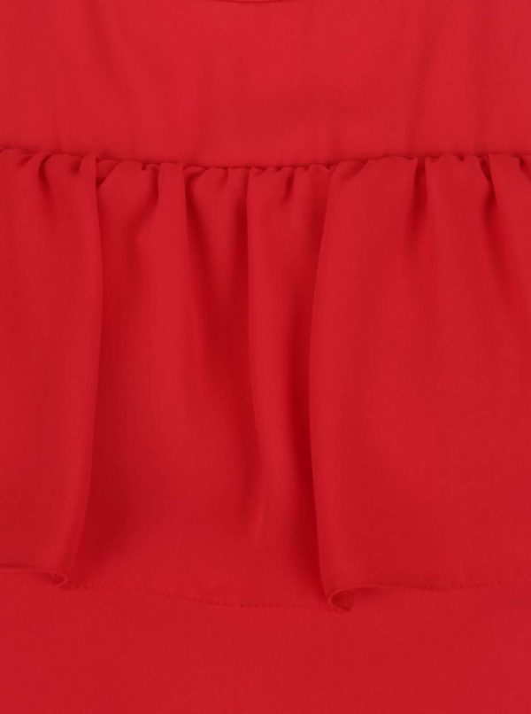 Červená blúzka s prestrihmi na ramenách Dorothy Perkins Petite