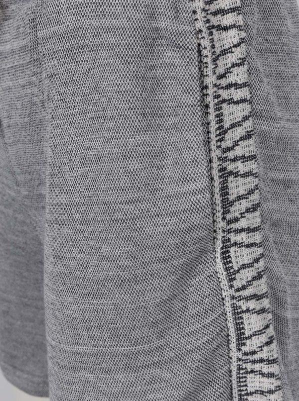 Sivé voľné kraťasy so šnúrkou v páse VILA Bima