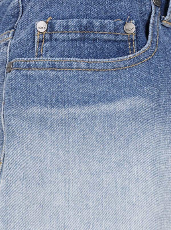 Modré rifľové kraťasy s ombré efektom Roxy Lovely