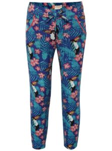 Modré dievčenské vzorované nohavice Roxy