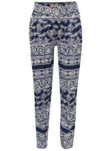 Bielo-modré dievčenské vzorované nohavice Roxy Wanna go holiday