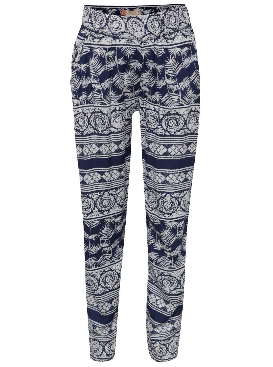 d9118fc75b69 Bielo-modré dievčenské vzorované nohavice Roxy Wanna go holiday ...