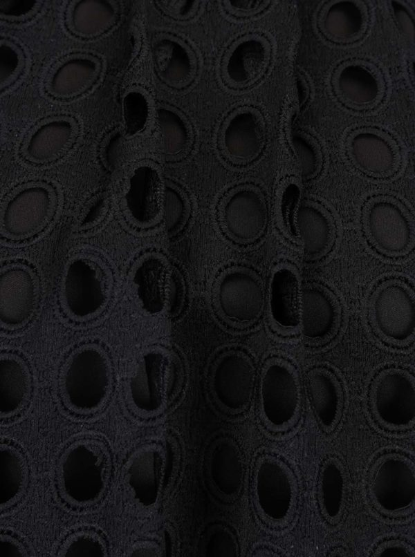 Čierna čipková blúzka so zipsom na chrbte Apricot