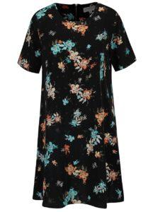 Čierne voľné kvetované šaty Apricot