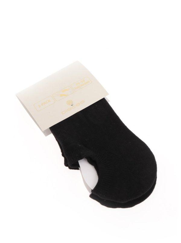 Súprava dvoch párov členkových ponožiek v čiernej farbe Pieces Tess