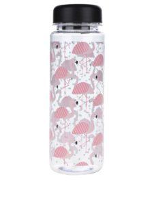 Plastová fľaša na vodu s motívom plameniakov Sass & Belle