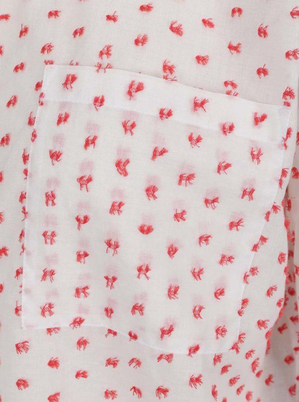 Krémová košeľa s červenou aplikáciou VERO MODA Green Manya