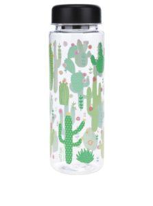 Plastová fľaša na vodu s motívom kaktusov Sass & Belle