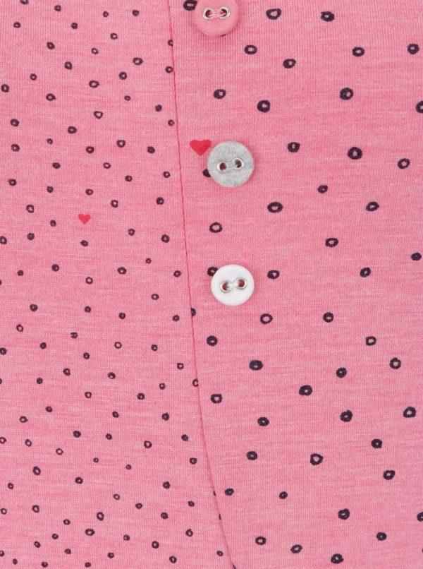 Ružové dámske bodkované tielko Ragwear Grace