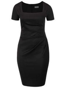 Čierne plus size puzdrové šaty s tvarovaným výstrihom Goddiva