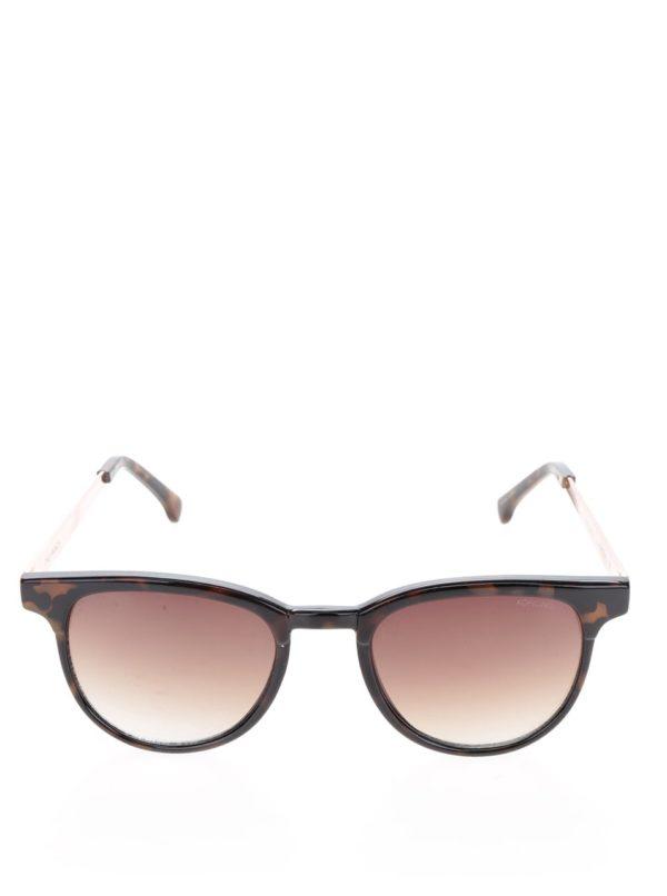 Hnedé dámske slnečné okuliare Komono Francis