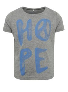 Sivé dievčenské tričko s potlačou name it Kope