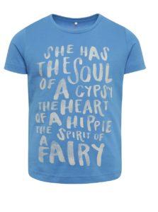 Modré dievčenské tričko s potlačou name it Kira