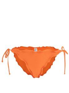 Oranžový spodný diel plaviek Pieces Lala
