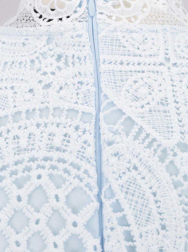 Svetlomodré čipkované šaty AX Paris