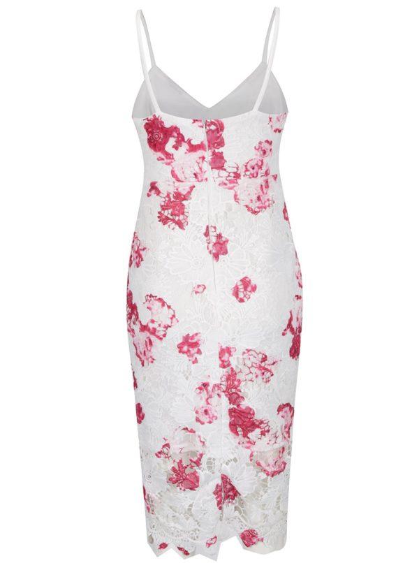 Krémové čipkované šaty s tenkými ramienkami AX Paris