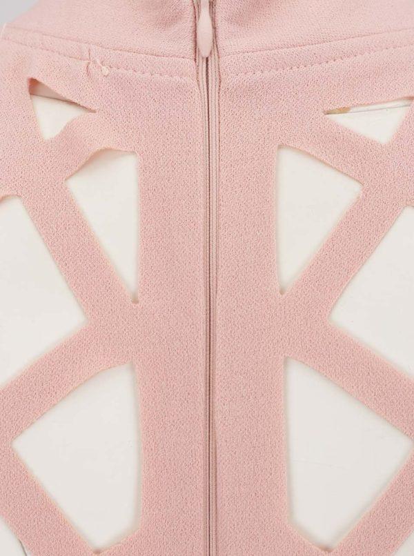 ae4c9930ee87 Ružové šaty s prestrihmi v dekolte AX Paris