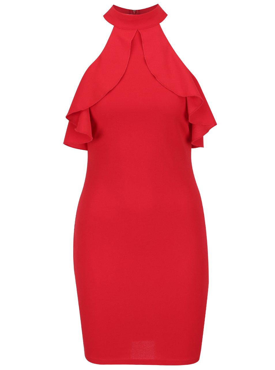 Červené šaty s odhalenými ramenami AX Paris  0709d562acf