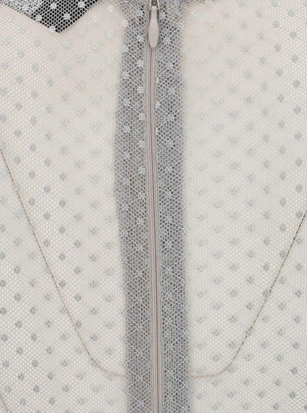 Sivé šaty s dlhým rukávom AX Paris