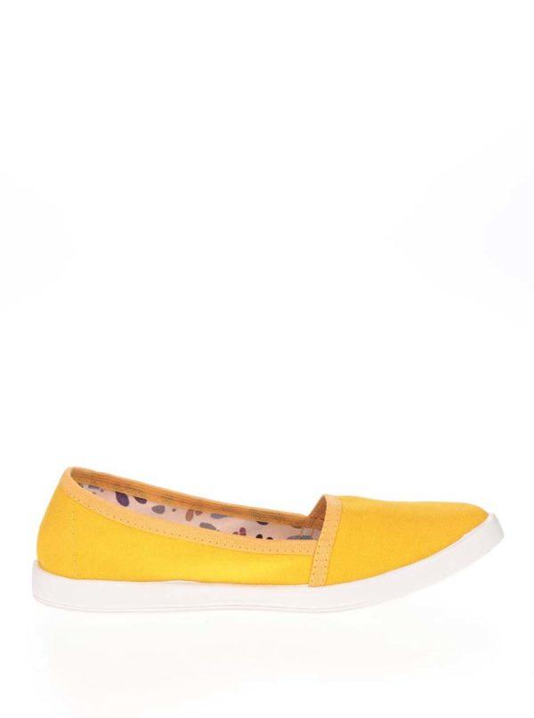 Žlté dámske loafers Oldcom Canvas