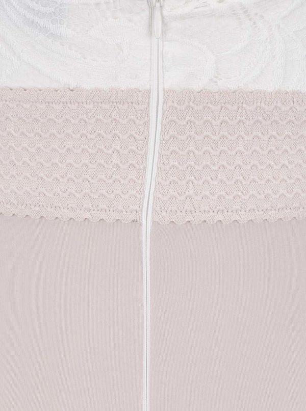 Staroružové puzdrové šaty s čipkou a pásikmi v dekolte AX Paris ... 19dda3e4ca7