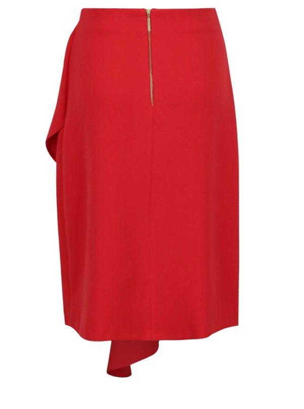 Červená sukňa s volánom Closet