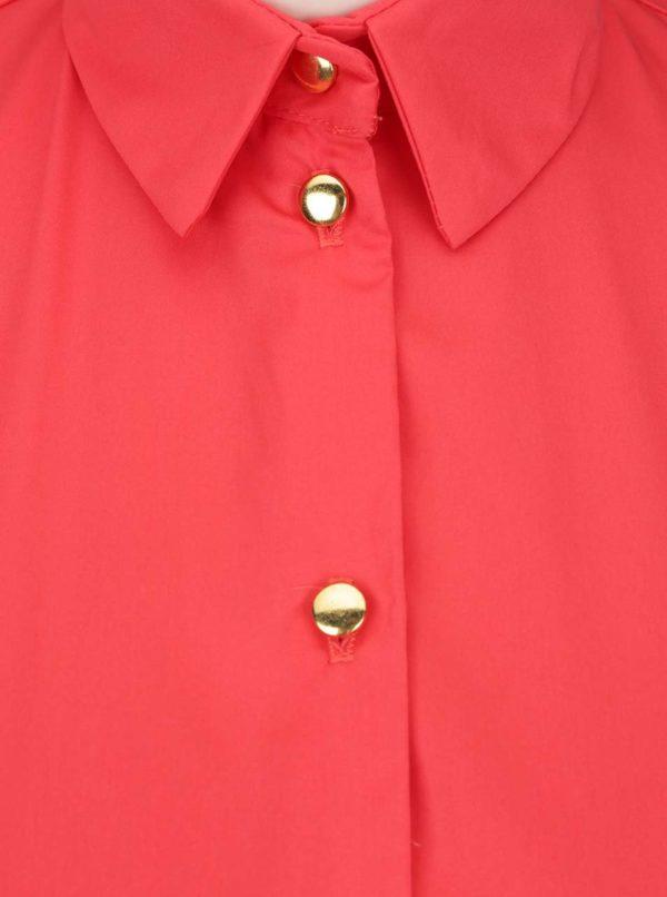 Červené košeľové šaty s volánmi Closet
