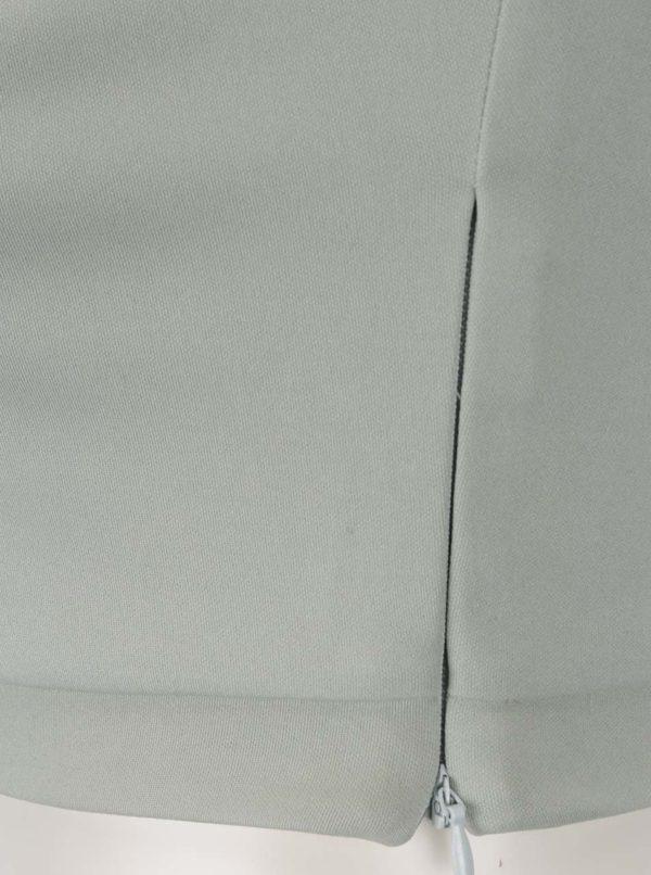 Krémovo-zelený bodkovaný top s volánom Miss Selfridge Petites