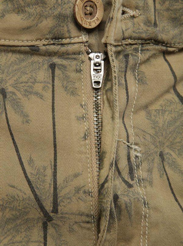 Béžové vzorované kraťasy s vreckami Blend