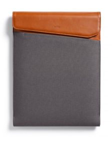 "Hnedo-sivý obal na notebook s koženými detailmi Bellroy Laptop Sleeve Extra 13"""