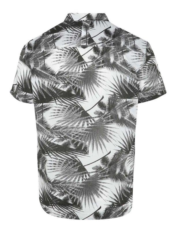 Čierna vzorovaná košeľa Blend