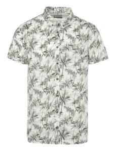 Zeleno-biela vzorovaná košeľa Blend