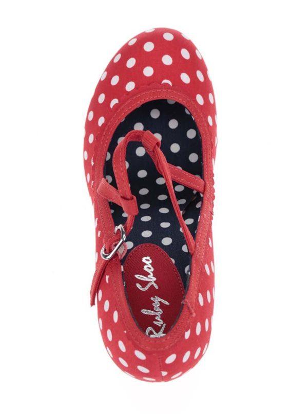 Červené bodkované lodičky Ruby Shoo Jessica