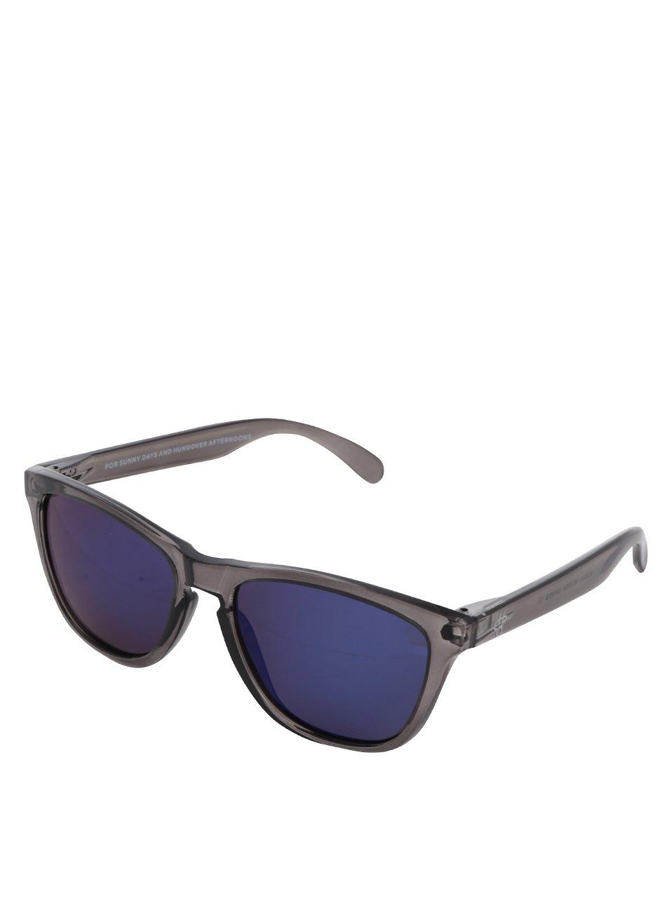 Tmavosivé transparentné unisex slnečné okuliare CHPO Bodhi  4a6cc15ce06