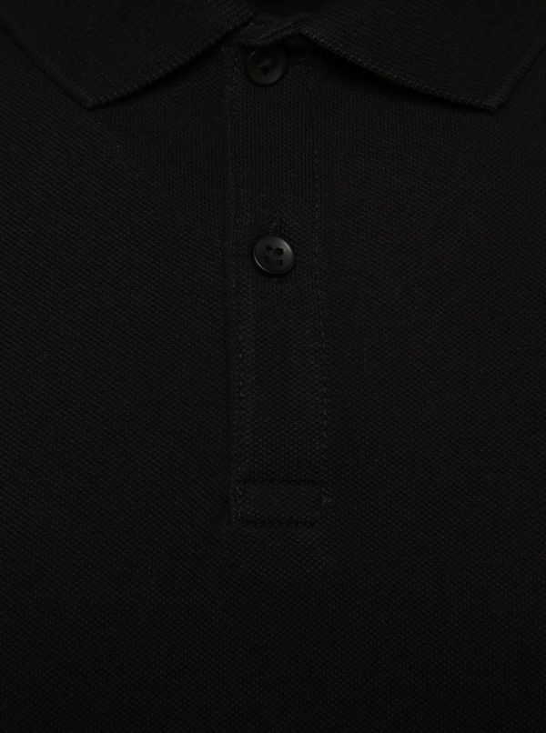Čierna polokošeľa s krátkym rukávom Jack & Jones Belfast