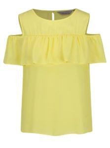 Žltá blúzka s prestrihmi na ramenách Dorothy Perkins Petite