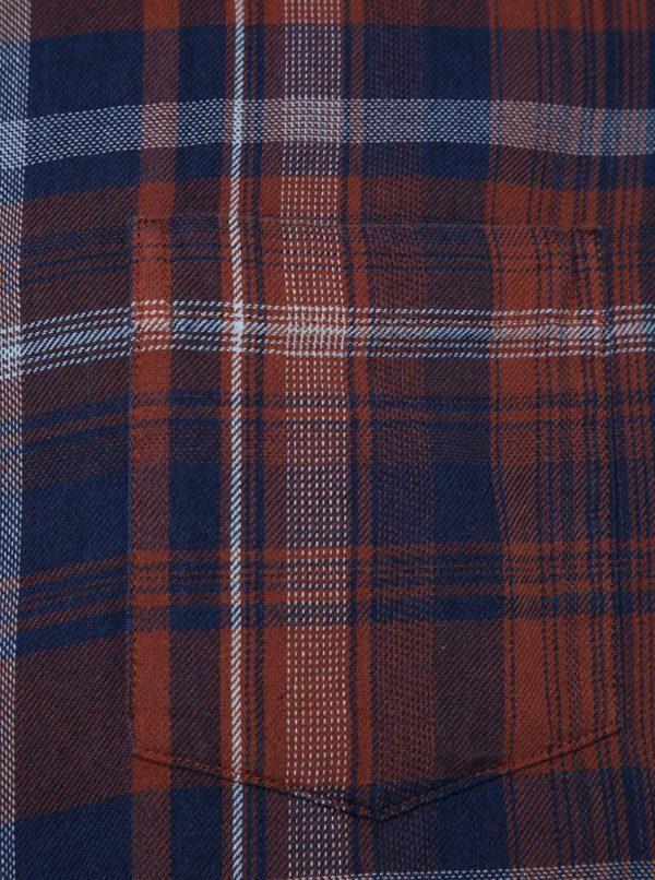 73794ede3c Hnedá károvaná košeľa Burton Menswear London