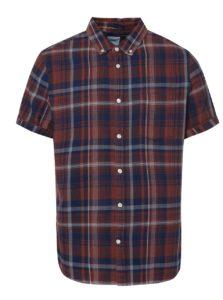 Hnedá károvaná košeľa Burton Menswear London