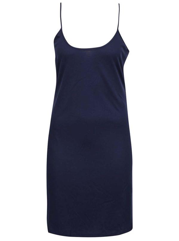 Tmavomodré čipkované šaty VILA Fana