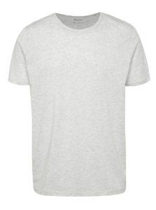 Svetlosivé melírované basic tričko s krátkym rukávom Burton Menswear London