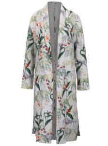 Krémový kvetovaný ľahký kabát Miss Selfridge