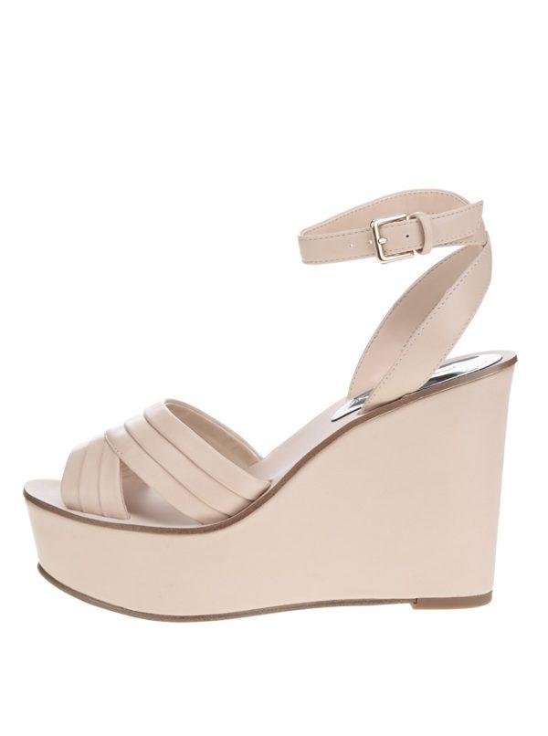 Béžové sandále na platforme Miss Selfridge