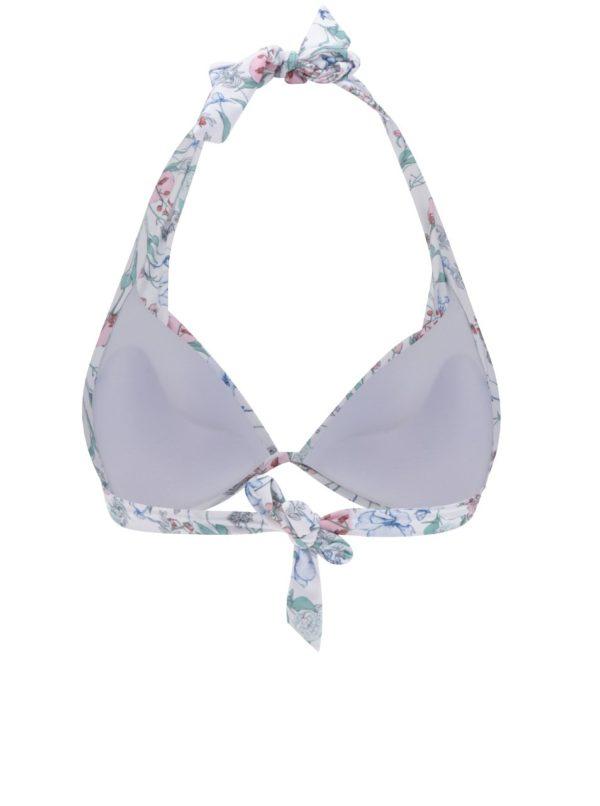 Biely kvetovaný horný diel plaviek Dorothy Perkins