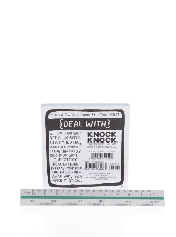 Bielo-modré samolepiace papieriky Knock Knock