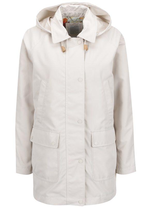 Krémová dámska bunda s kapucňou a vreckami Geox