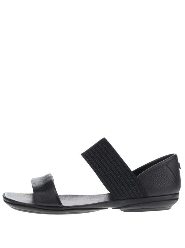 Čierne dámske kožené sandále Camper