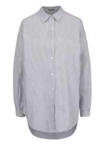 Sivá pruhovaná dlhá voľná košeľa ZOOT