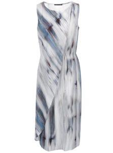 Modro-sivé vzorované šaty bez rukávov Pietro Filipi