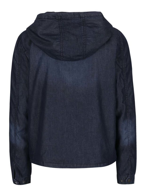 Tmavomodrá bunda s kapucňou ONLY Skylar