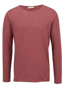 Vínové tričko s  prímesou hodvábu Selected Homme Dome